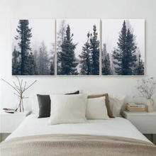 3pcs/lot Nordic Fog Forest Birds Landscape Canvas Painting Poster Print Wall Art Picture Living Room Home Office Decor