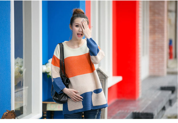 Fahion 2015 Autumn Sweater coat maternity size for pregnant women clothes