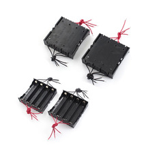 30pcs/lot MasterFire 11cm 8-Wires Black Plastic 4 x 3.7V 18650 Battery Storage Holder Case Cover Box For 4pcs batteries cases