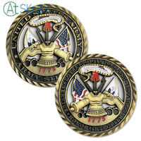 50/100pcs/lot New Arrival U.S. Army Core Values Brass Challenge Coin Military Soldier Unit Medallion Cutout Souvenir Coins