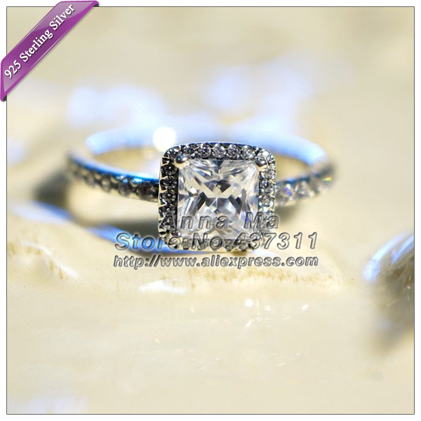 2015 NEW S925 Sterling Silver Ring Timeless Elegance with Clear CZ fashion Ring Woman Jewelry Wedding engagement rings R047