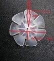 Лопасть вентилятора для пропеллера  7 лопастей  размер отверстия 2 мм  диаметр 55 мм  Высота 17 мм