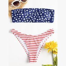 7de09cf45b Nouveau Style femmes maillots de bain Sexy soutien-gorge Bikini drapeau  américain imprimer maillot de bain maillots de bain Fanc.