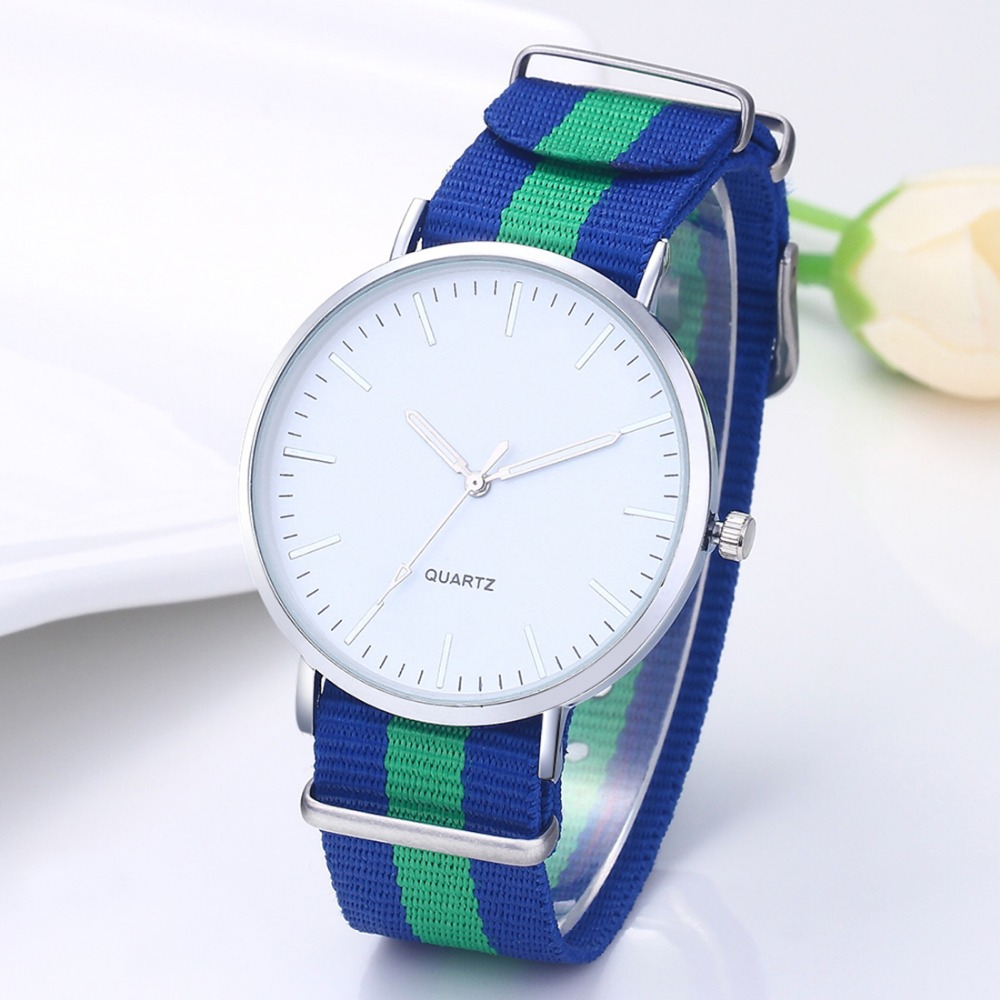Hot Sale Fashion Watches Nylon Strap Wrist Watch Men Watch ...
