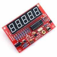 (Top verkauf) 50 MHz Kristall Oszillator Frequenz zähler Tester DIY Kit 5 Auflösung Digital Rot