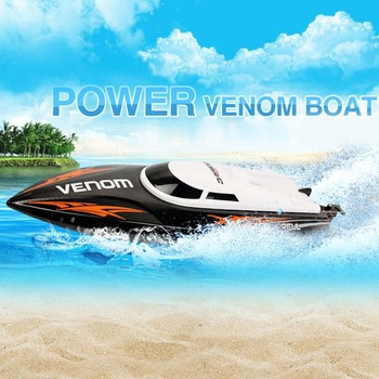 RC Speedboat UDI 001 Mini Tempo Power Venom 2.4G Remote Control Boat with Auto Rectifying Deviation Direction Function