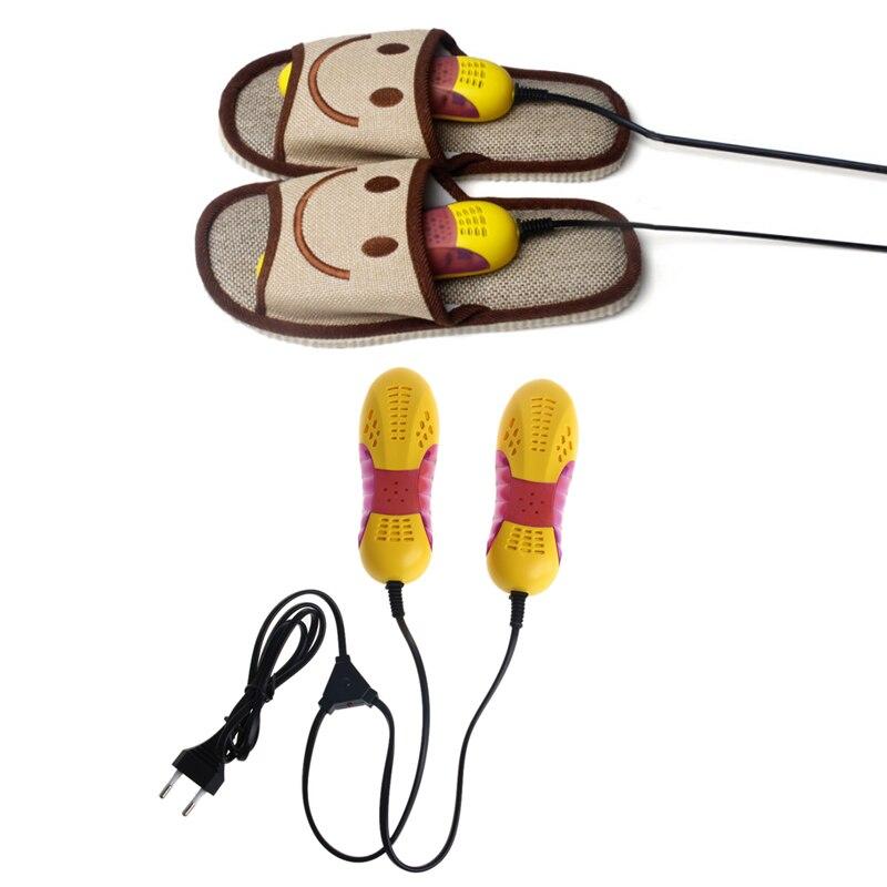 Light Voilet Shoe Dryer Odor Deodorant Heater  220V 10W EU Plug