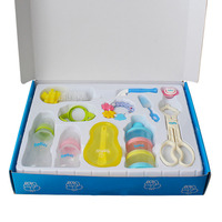 Baby Infant Feeder Set 2 Milk Bottles Nipple Baby Food Storage Teether With Rattle Feeding Supplies
