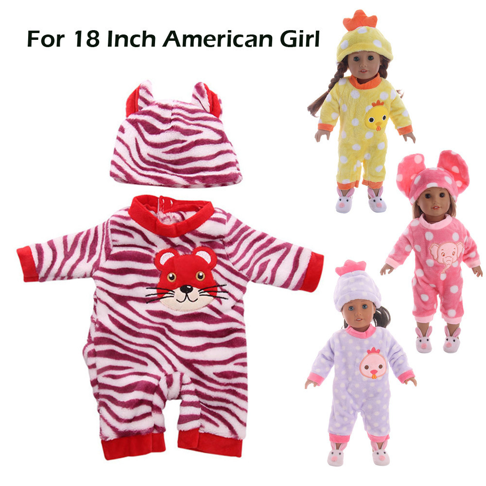 Lovely Baby Doll T-shirt Jumpsuit Clothes for 18inch AG American Doll Doll Accs