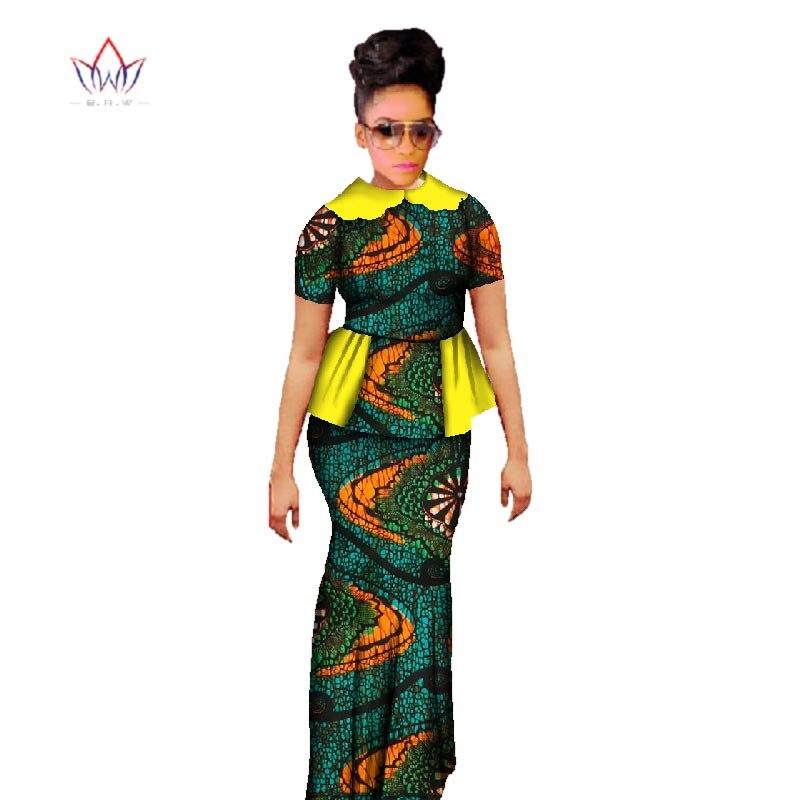 Plus Size 2019 Dashiki African Wax Տպելու փեշ - Կանացի հագուստ - Լուսանկար 6