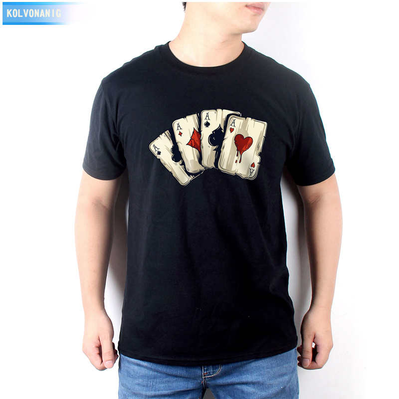 KOLVONANIG 2019 New Summer Dress Men's   T     Shirt   Poker Playing Cards Four A Anime 3D Printed   T  -  Shirt   Men Tee   Shirt   Clothes Tops