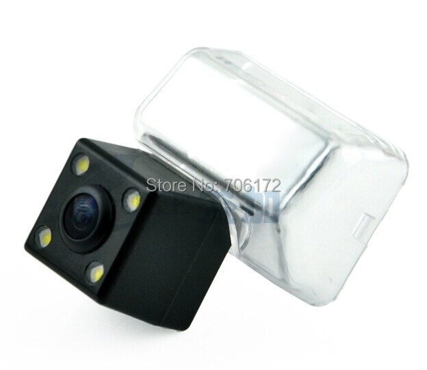 4 leds ccd Special for <font><b>Mazda</b></font> <font><b>6</b></font> <font><b>2010</b></font>/<font><b>Mazda</b></font> CX-5 2012 rear view camera rearview with 170 Degree angle nightvision waterproof image
