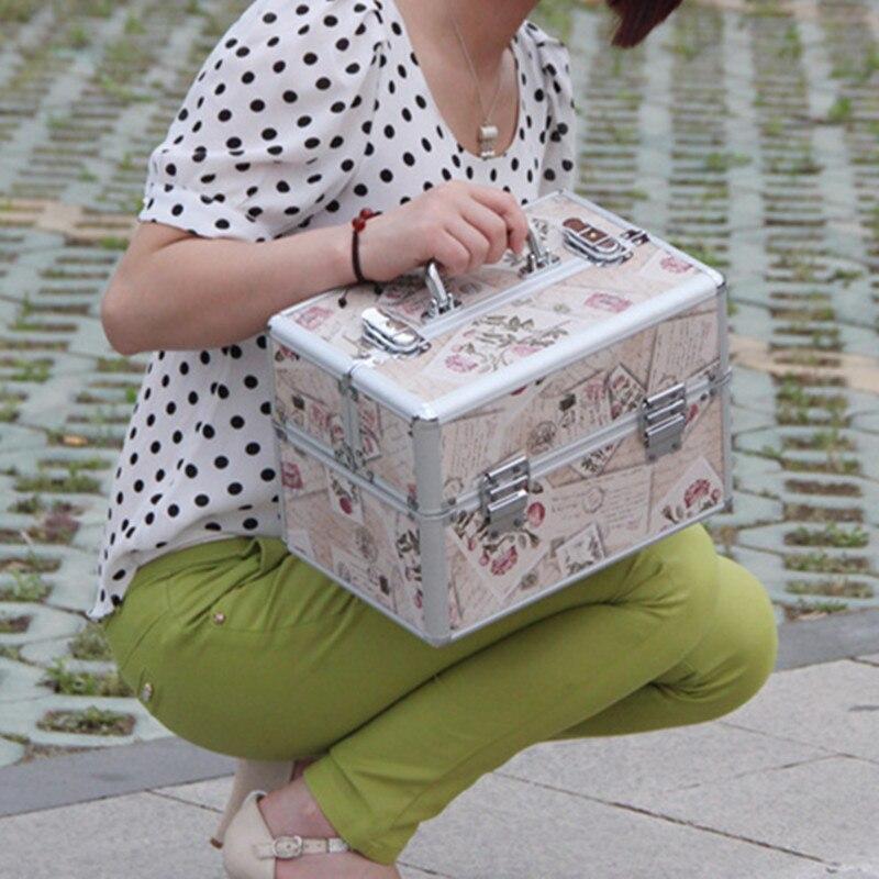 Чехол для путешествий с алюминиевой рамкой косметический Профессиональный