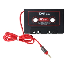 3,5 мм Автомобильный AUX аудио магнитофон адаптер конвертер для автомобиля CD плеер MP3