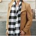 2016 Человек Мода Шотландский Плед Шарфы Осень Зима Теплая Кисточкой Шоу Площади 190 СМ Площади Wrap Акриловый Плед Шарфы P30