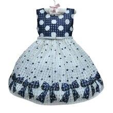 Kleid Neue mädchen kleid kinder mädchen sleeveless dot pinted Baby mädchen abendkleid partykleid stil für 1-3Y Vestidos