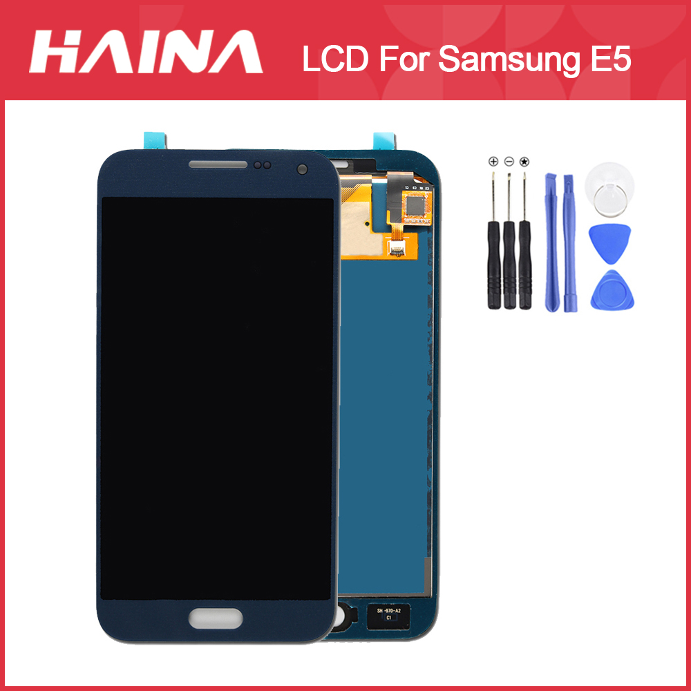 <font><b>E500</b></font> <font><b>LCD</b></font> Display Für Samsung Galaxy E5 <font><b>LCD</b></font> E500HQ E500F Display E500H E500M <font><b>LCD</b></font> Bildschirm Touch Digitizer Assembly Kostenlose Tools image