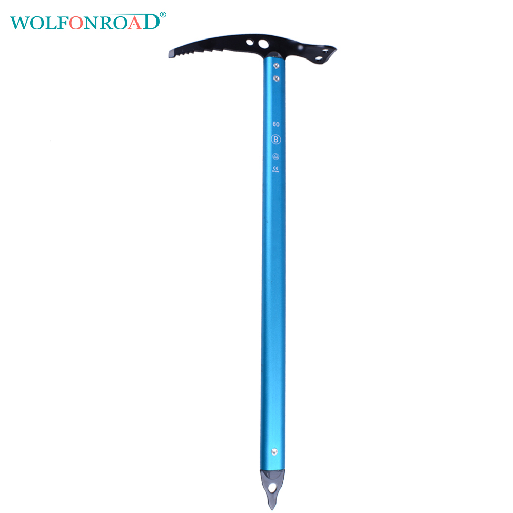 WOLFONROAD CE Certification Outdoor Ice Climbing Pick Rock Piolet Ice Axe Sport Equipment Hammer Chromoly Head L-XDQJ-133 p179 outdoor rock climbing ice drill ice climbing equipment stainless steel ice bearing fulcrum ice cone
