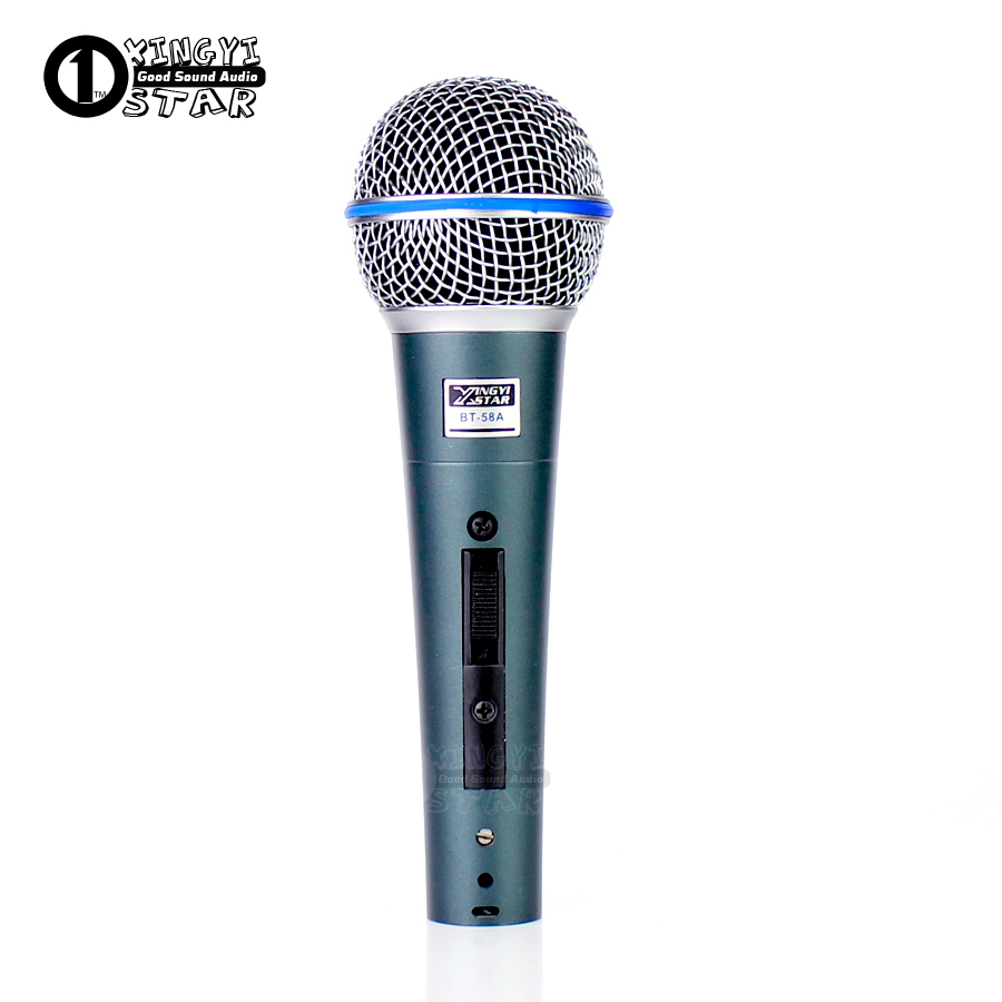 XLR BT58A Switch Professional Vintage Handheld Vocal Dynamic Microphone For Beta 58a Beta58a Karaoke Music Studo Stage Party Mic