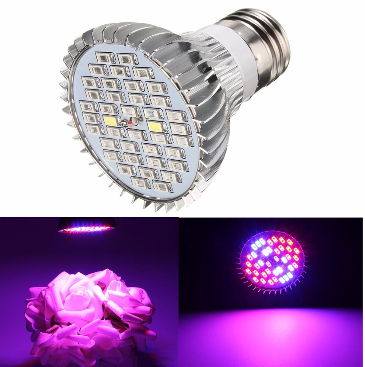 Mising 15W E27 Full Spectrum LED Plant Grow Lights Bulb Veg Hydroponic Lamps Flower Hydroponics System Indoor Garden Greenhouse