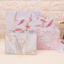 High Quality Paper Gift Bag With Handle Wrapping Package Festival Jewelry Wedding Party Recyclable Bags Birthday Supplies