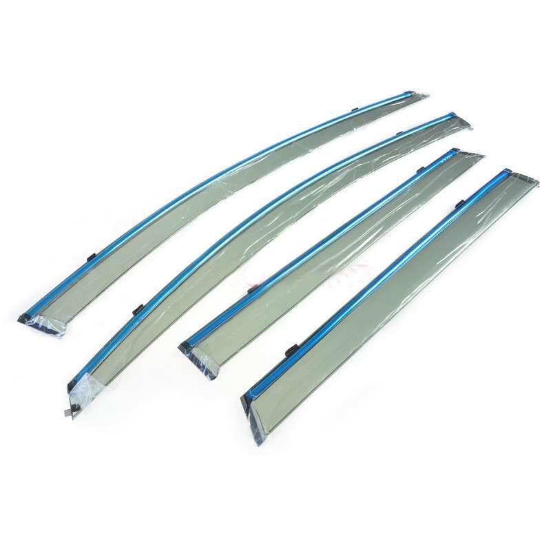 For Suzuki Vitara Escudo 2015 2016 2017 ABS Plastic Window Visor Vent Shades Sun Rain Deflector Guard Protector Covers 4Pcs/set 2015 2017 car wind deflector awnings shelters for hilux vigo revo black window deflector guard rain shield fit for hilux revo