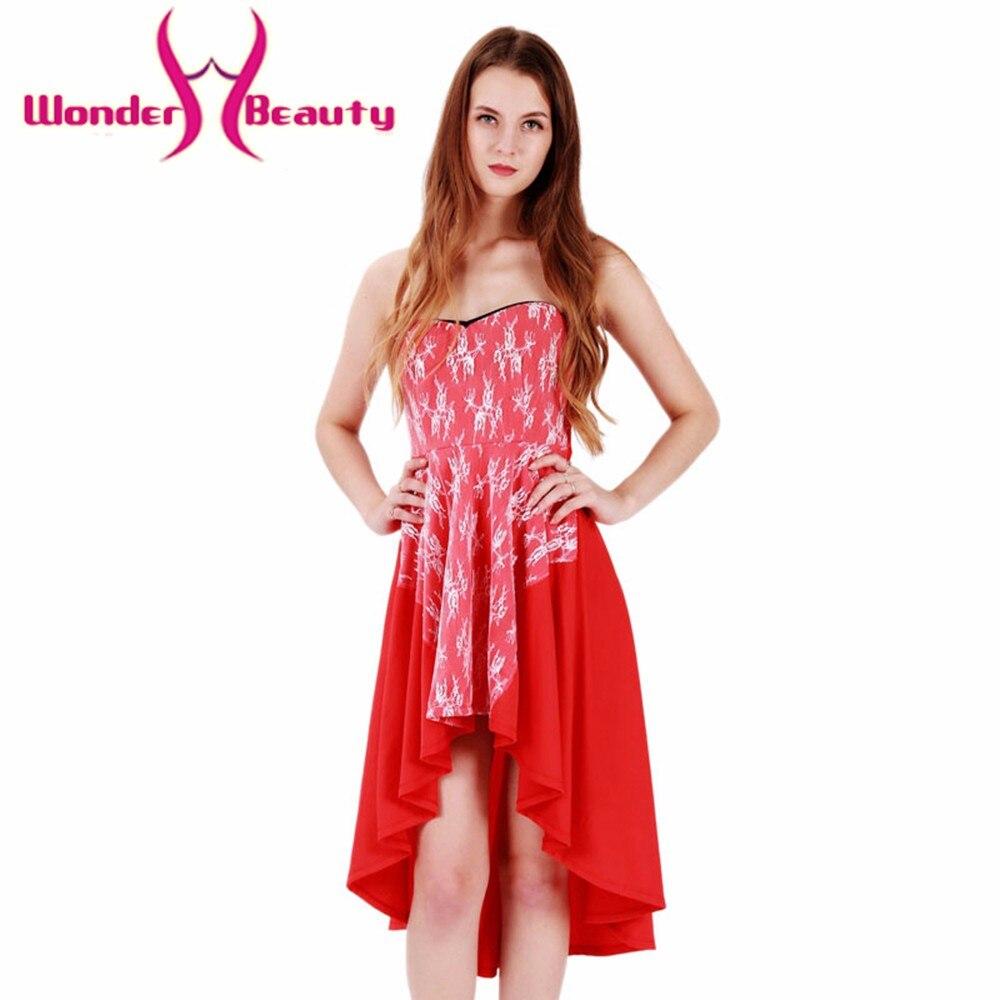 Wonder Beauty Lolita Women Red Summer Plus Size Office -8785