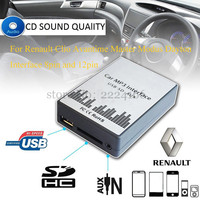 Lonleap Adapter CD USB SD AUX Samochód MP3 Odtwarzacz Muzyczny Interfejs zmieniarki dla Renault Modus Clio Avantime Mistrz Dayton 8/12pin części