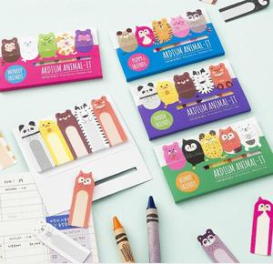 1PC/lot cartoon Animals Memo Sticky Notes Notepad School Office Supply Escolar Papelaria Gift Stationery Self-adhesive note