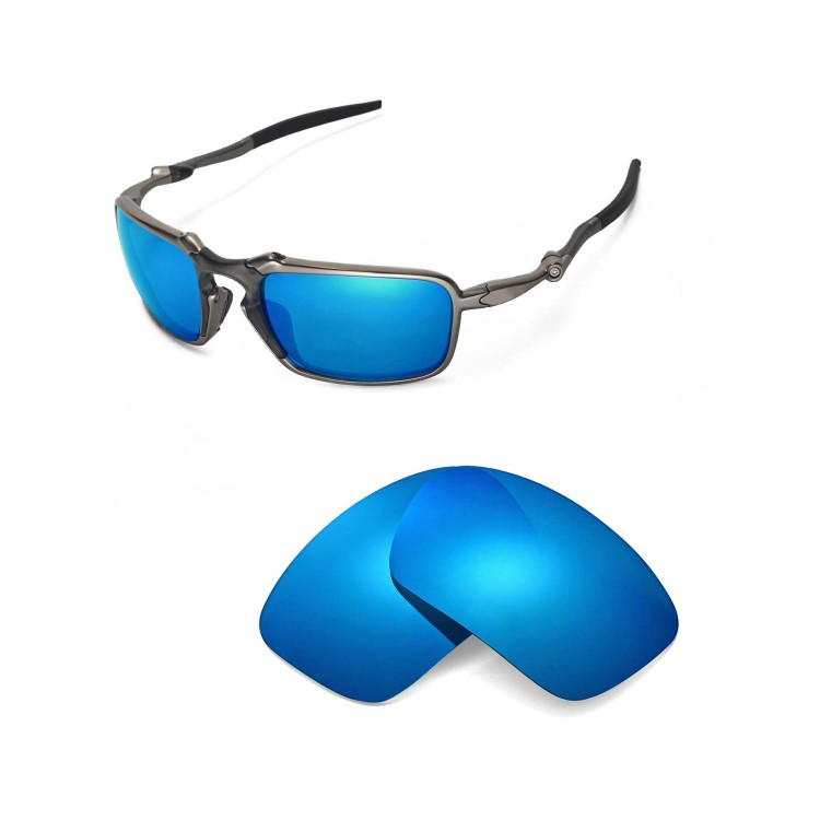 Walleva Polarized Replacement Lenses For Oakley Badman Sunglasses 2 Colors Available