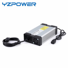 Yzpower carregador de bateria de lítio 63v, 6a, para pilhas de lítio 55.5v, 15s, ferramentas para motocicleta ebikes