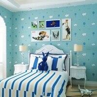 10 meter Decoration Wallpaper Cloud &Sky Ballon& Strawberry Wall Wallpaper Roll Art wallpapers Pink/Blue Decor for Kids room