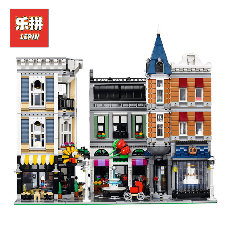 Lepin 15019 Genuine City Street Series the Assembly Square Brain Game Model Building Blocks Bricks Set DIY Plastic Toy for Child funny fishing game family child interactive fun desktop toy
