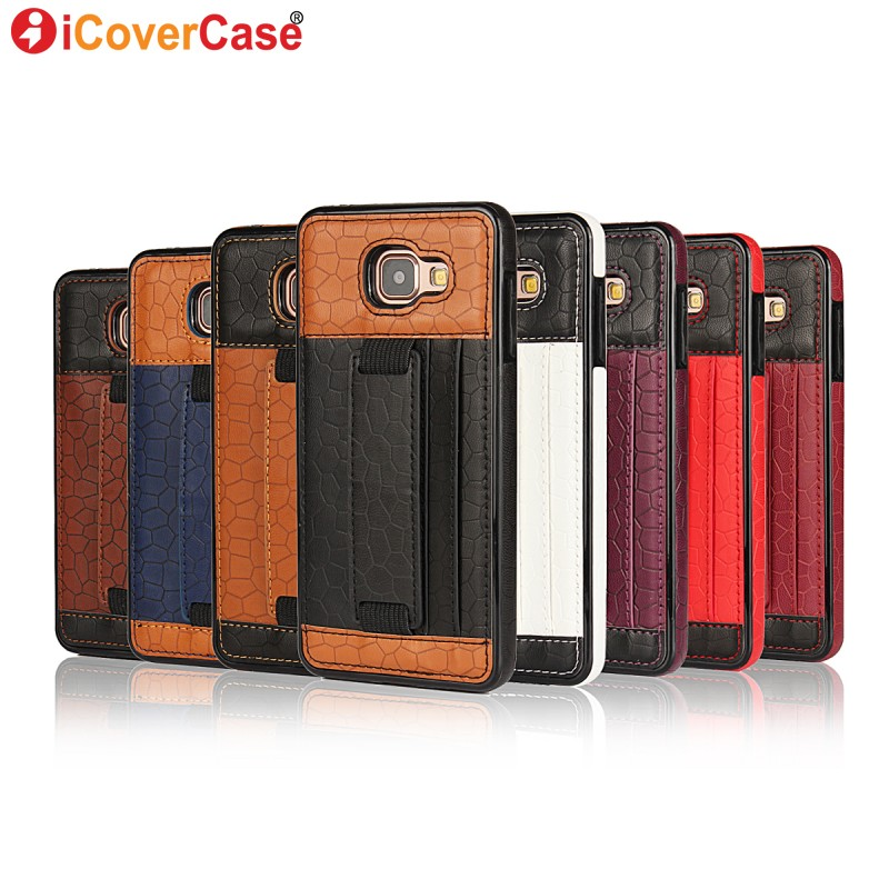 Case voor Samsung Galaxy A5 2016 A510F lederen achterkant voor Samsung A3 2016 Case A310F Coque A7 A8 Note 4 Capa Hoesje Stand Bag