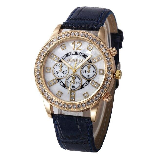 d6dc0d65846 2018 nuevas mujeres casual Faux leather cuarzo Ana cuarzo reloj analógico  Relogio femin Wat marca de