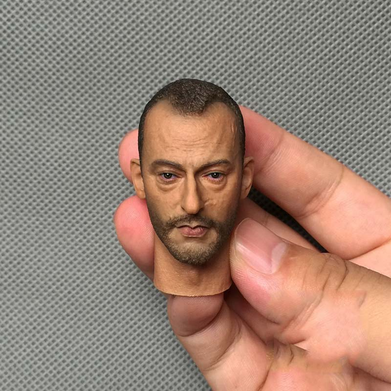 ФОТО The Killer Is Not Too Cold Lyon 1/6 Jean Reno Head Carving 12
