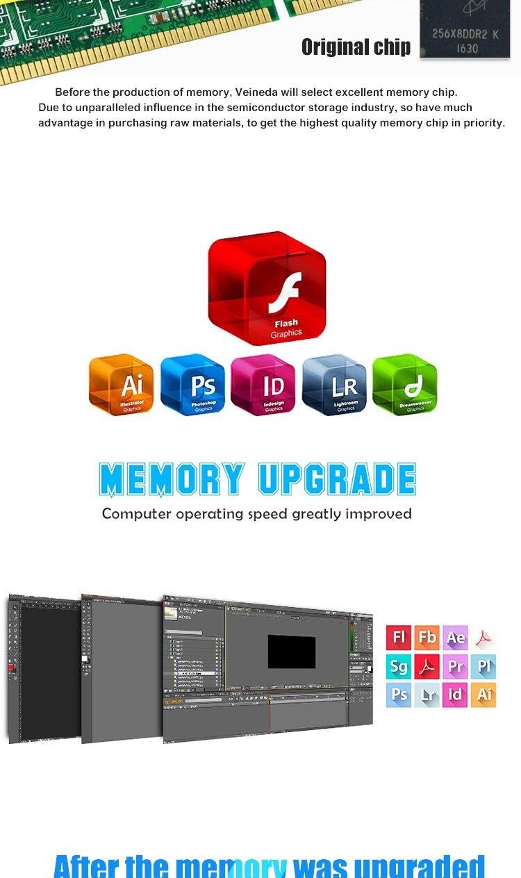 4g 2gb Ddr2 800 667 533 Mhz 4gb Memoria 800mhz Ddr Memory 1 Gb Ddr1 Pc3200 Ready 2 Pc2 6400 Ram For All Intel And Amd Dimm