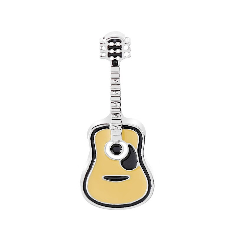 High Quality 1 Style Brooches Guitar Brooch Sweater decorative needle Jewelry Enamel <font><b>Pin</b></font> Denim Jackets Collar Badge <font><b>Pins</b></font> <font><b>Button</b></font> image