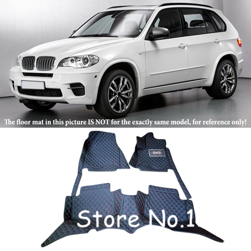 5seats For BMW X5 E70 2008 2009 2010 2011 2012 2013 Interior Leather Waterproof Durable Special Floor Mats & Carpets full surrounded right steering rhd waterproof carpets durable special car floor mats for skoda octovia yeti superb most models
