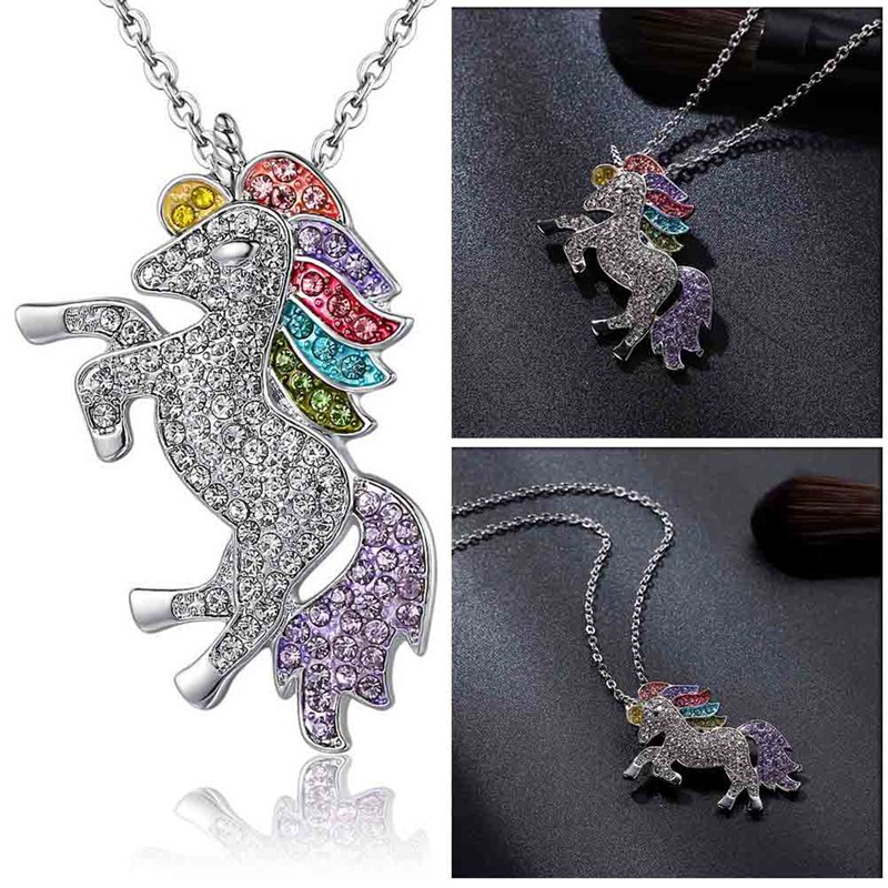 Unicorn Girls Rainbow Pendant 4