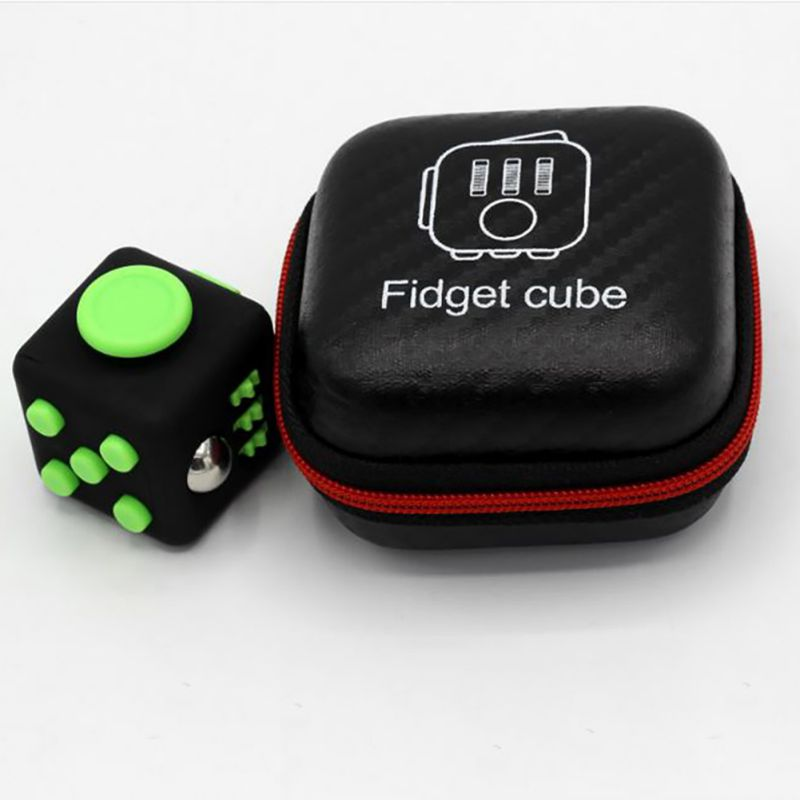 3x3x3 CM Mini Fidget Cube Toy Vinyl Desk Finger Toys Squeeze Fun Stress Reliever Hand Spinner 2017 Antistress Cubo