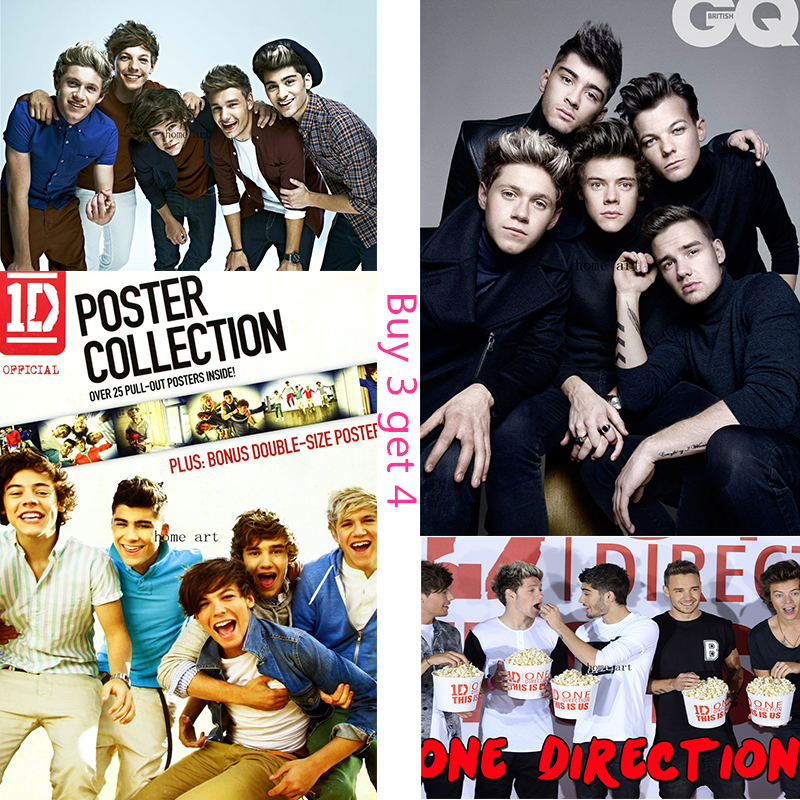 ONE DIRECTION Poster Clear Image Wall Stickers Home Decoration Good Quality Prints White Coated Paper