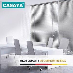 Image 2 - Persianas venecianas de tamaño personalizado, persiana enrollable de aluminio grueso, resistente al agua, color blanco, gris, plateado y dorado, persiana enrollable para ventana, 25MM