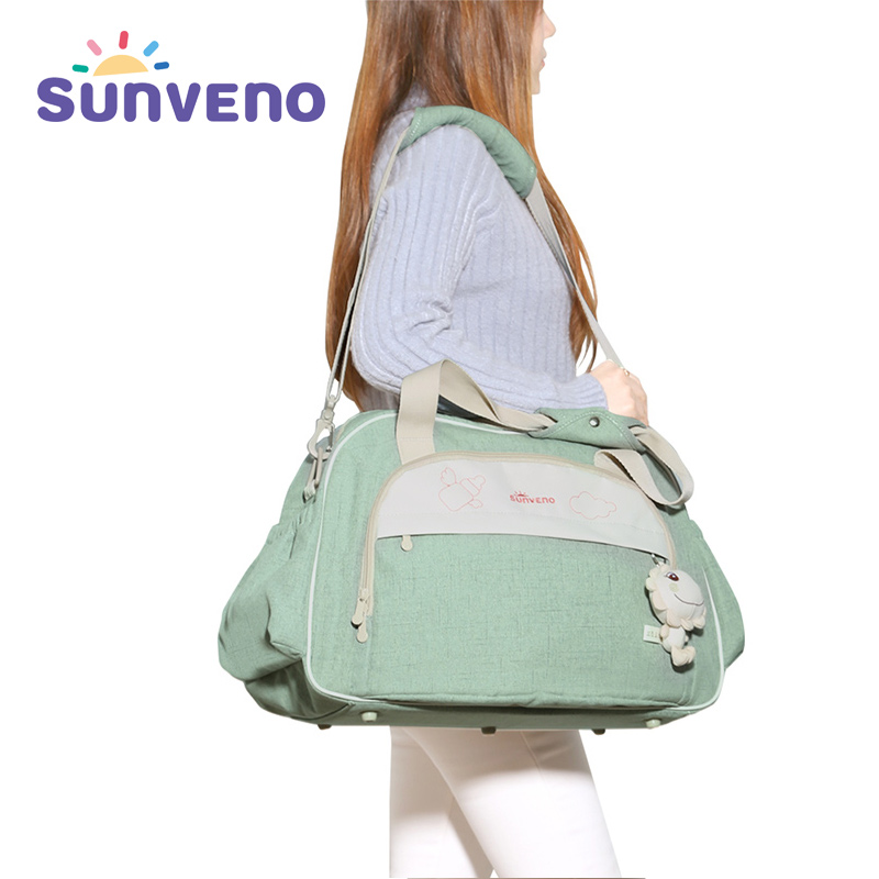 SUNVENO Functional Baby Bag for Travel Brand Large Capacity Diaper Bag Wide Open Maternity Nappy Bag Baby Care Bolsa Maternidade fashion baby bag brand stroller bag maternity diaper bag large capacity travel backpack for mommy bolsa maternidade care mom kid