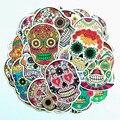 50 шт./упак. мечта красочная наклейка с изображением скелета игрушки Призрака с черепом и наклейки для скрапбукинга сделай сам для мотоцикла ...