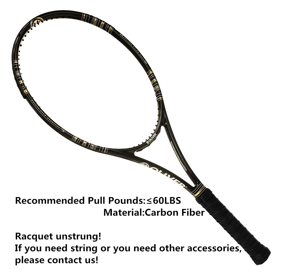 1pc Carbon Fiber Tennis Rackets Oliver pulse98 Racquet Sports Tennis Accessories 100% Carbon Durable Tennis Rackets