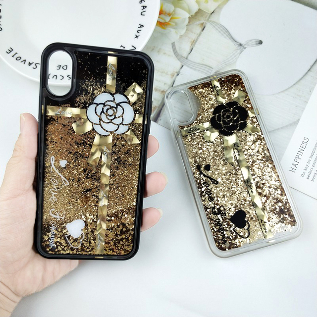separation shoes e19ec e9356 US $3.07 21% OFF|Glitter Liquid Quicksand Phone Case for iPhone 6 Case  Bling Unicorn Water Sequins for iPhone 7 Case for iPhone X 6s 8 Plus-in  Fitted ...