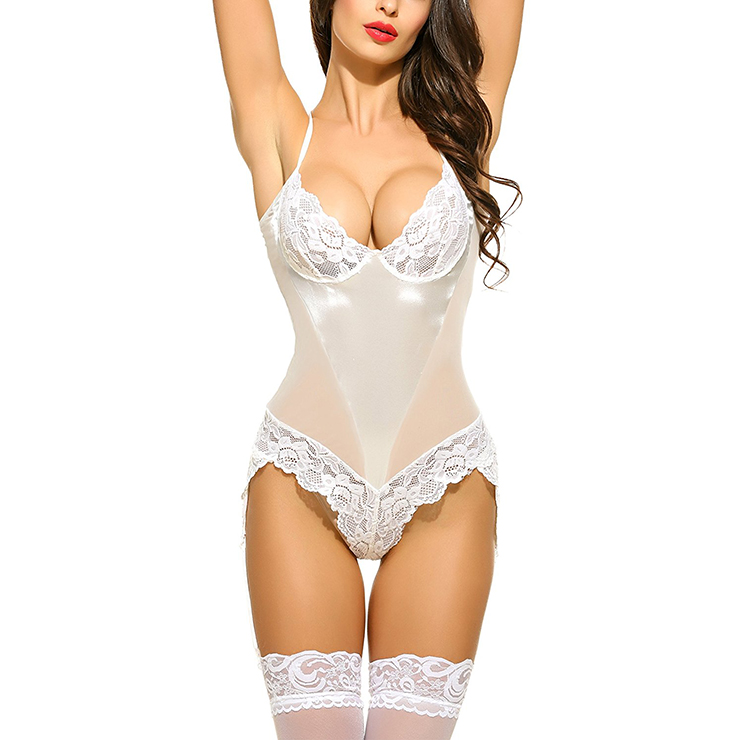 Sexy Lingerie Lace Women Ladies Dress Babydoll Sleepwear Underwear  Nightwear Bodysuit Black White 16804e717
