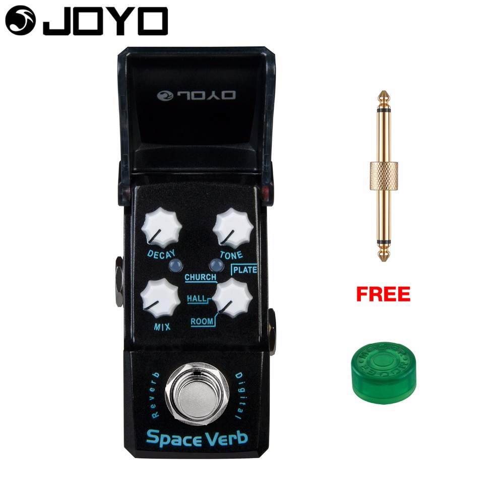 Joyo Space Verb Digital Reverb Guitar Effect Pedal True Bypass Decay Control JF-317 with Free Connector and Footswitch Topper sews aroma aov 3 ocean verb digital reverb electric guitar effect pedal mini single effect with true bypass