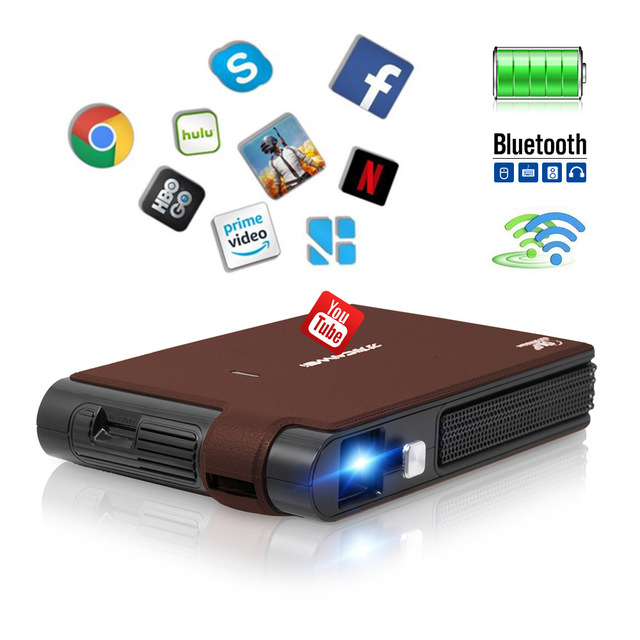 Big Sale CAIWEI  Portable Mini DLP LED Projector Android WIFI Bluetooth Beamer Home Theater Proyector 3D Display HD 1080P Video Movie